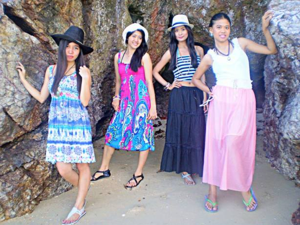 Girls in Sicogon Island
