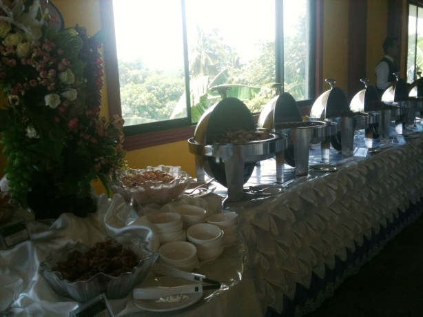 Buffet Table at the Wedding