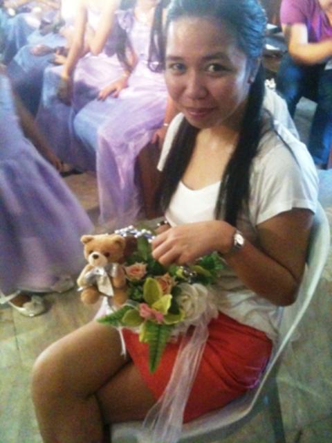 Ericka Estrellado and the flowers