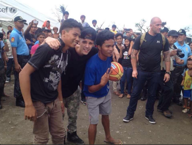Justin Bieber in Tacloban, Philippines