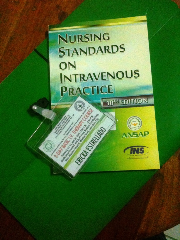 Nursing Standards on Intravenous Manual use by Nurses