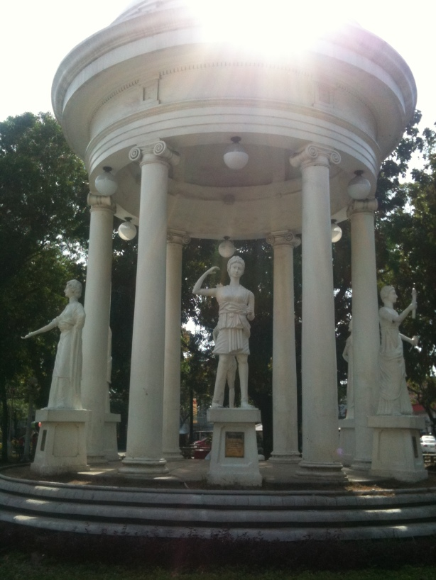 Greek goddesses gazebo in Molo, Iloilo